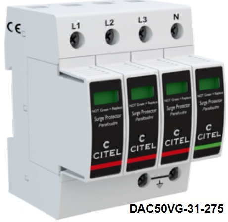 DAC50VG-31-275 Type 2 AC surge protector - 3-phase+N. VG