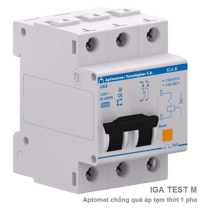 IGA TEST M single-phase protector permanent overvoltages with MCB