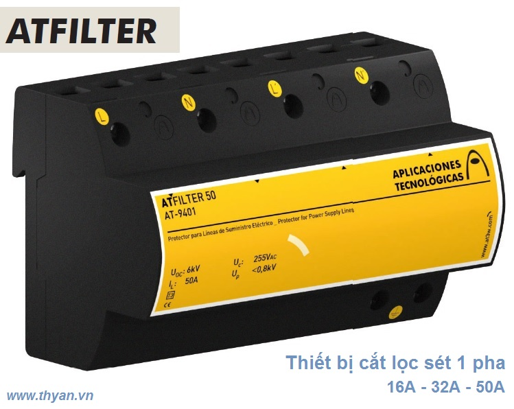 ATFILTER50 AC 1 phase Surge Protector
