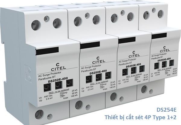 DS254E Series Type 1+2 Surge Protector