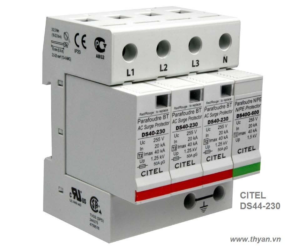 DS44 3 phase AC surge protector
