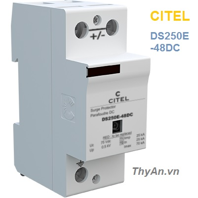 DS250E-48DC 1-pole Type 1 & Type 2 SPD for 48 Vdc