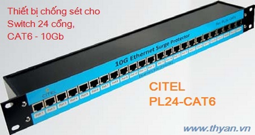 PL24-CAT6 Protector for 12/24 port Switch 10Gb
