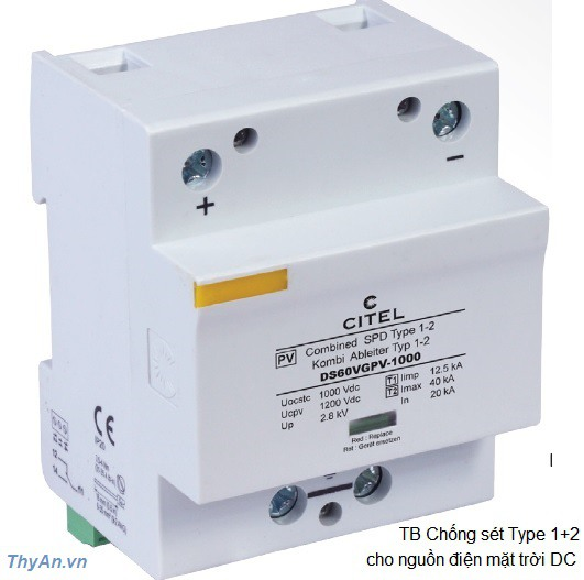 Type 1+2 PV Surge Protector-High energy VG Technology