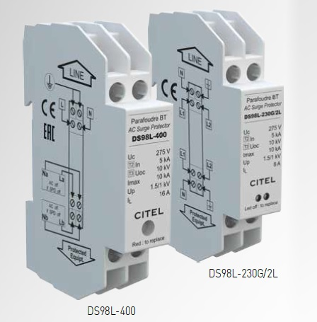 Surge protectors for LED lighting system -230 V - Monobloc