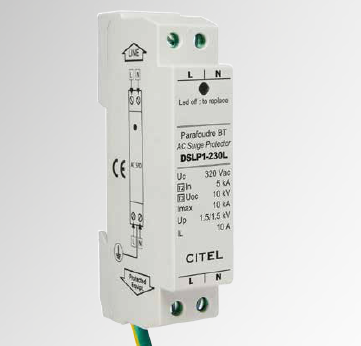 Single-phase AC surge protector for street lighting pole box