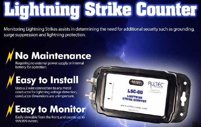 LSC-6D Lightning Strike Counter