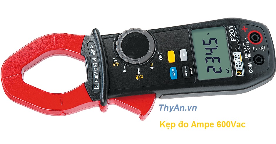 F201 600AAC TRMS multimeter clamp