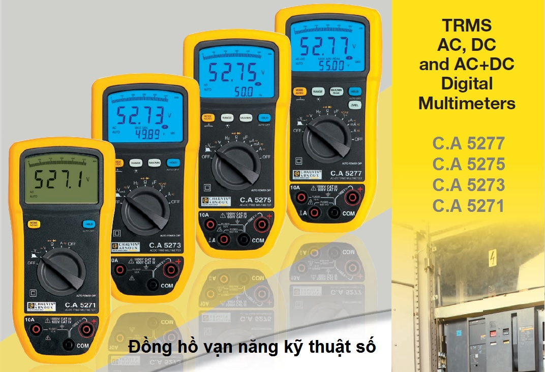 C.A 527x Series Digital Multimeters