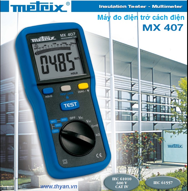 Metrix MX 407 Insulation Tester