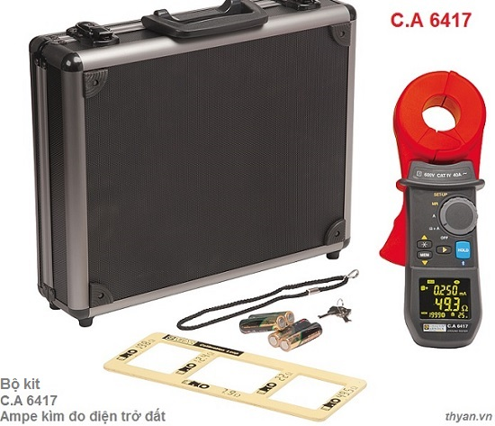CA6417 Clamp-on ground resistance tester