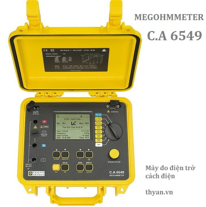 CA6549 Insulation Tester at 5kV /10TΩ