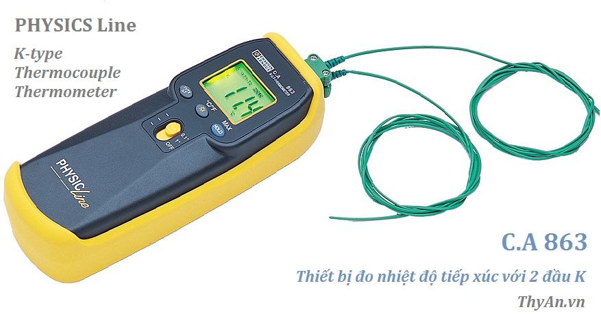 CA863 Line K-type thermocouples temperature measurement