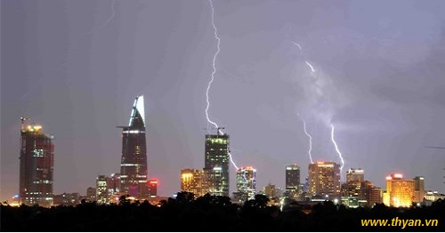 Lightning protection for high buildings